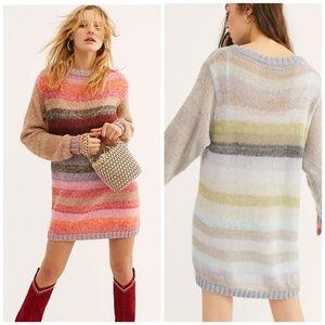Free people Bright It Up Sweater Mini Dress
